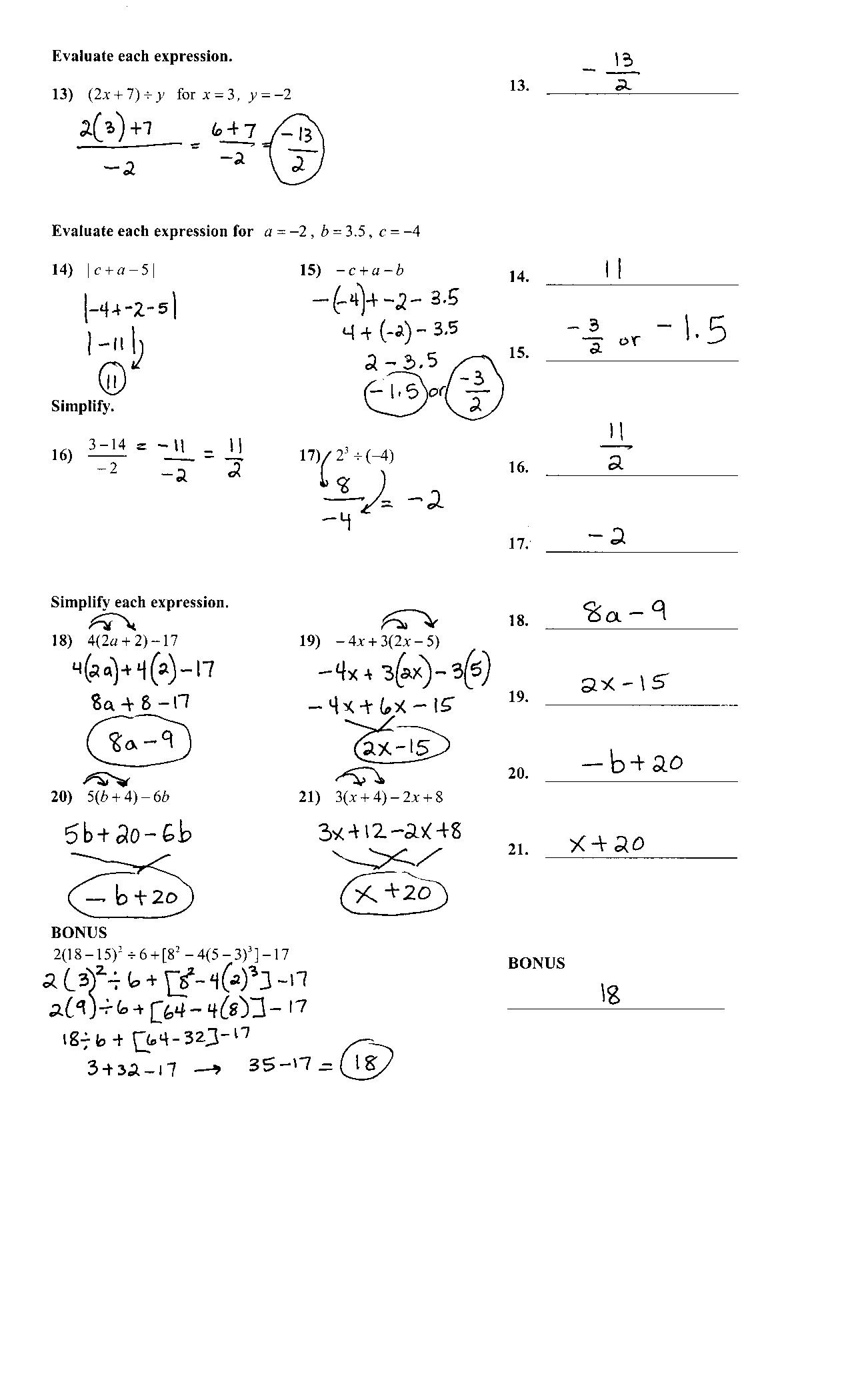 Chapter 1 Practice Test Answer Key page 2