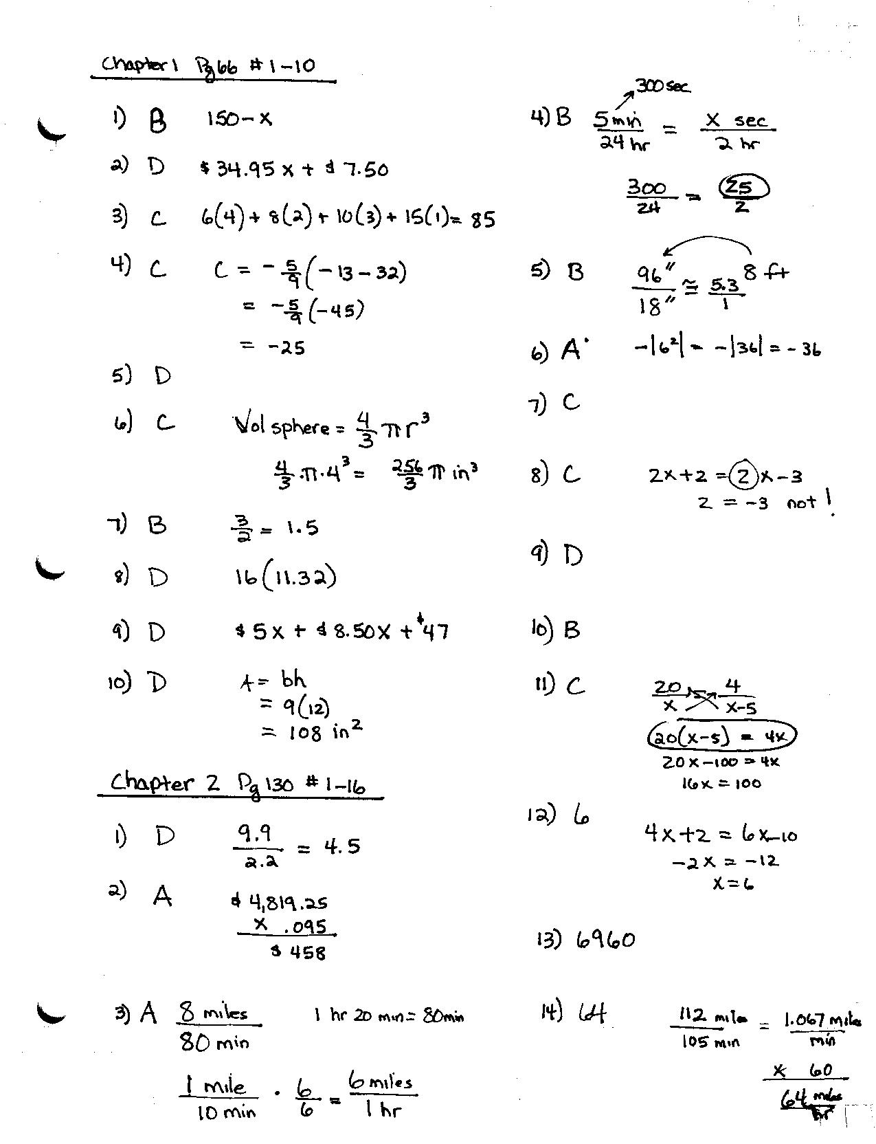 Answer Key practice test page 1 Nov 3 001