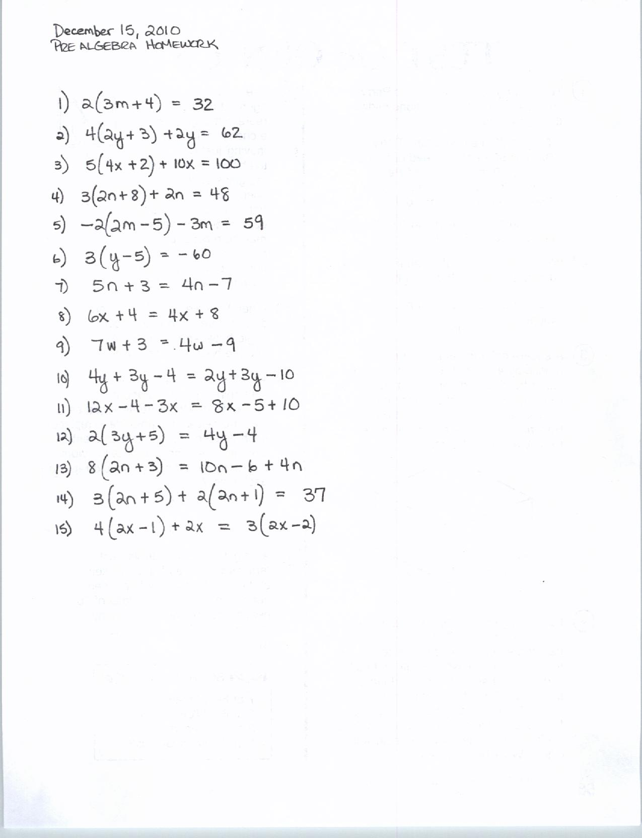 ... 15 Solving Multi-Step Equations | Algebra – Common Core Approach